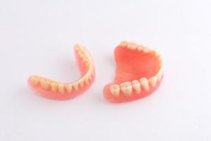 52682668 - full denture on white background